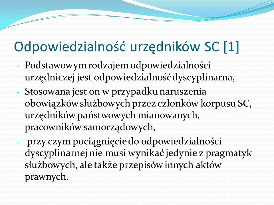 Odpowiedzialność urzędników SC [1]
